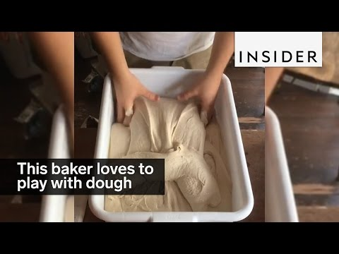 This baker loves to play with dough