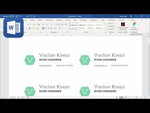 How to create business cards in Microsoft Word - Part 1 (Tutorial)