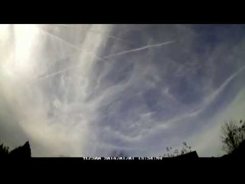Chemtrails over Charlotte, NC 1/1/14