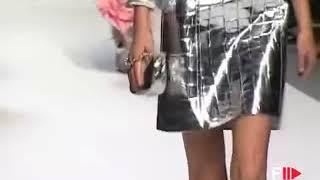 Croc Patent Silver Jacket Skirt Suit   BLUMARINE Spring 2008