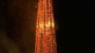 شاهد: مدينة لوستيناو النمساوية تحطم الرقم القياسي لأطول شعلة في العالم…