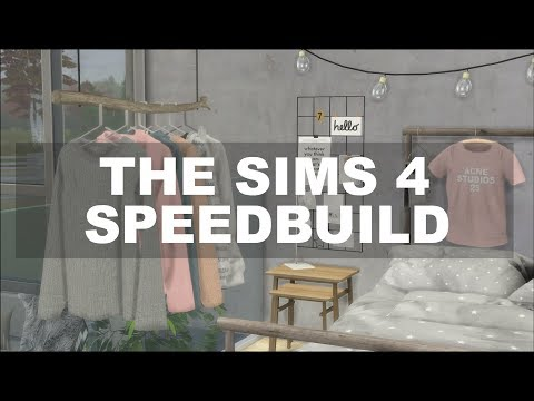 The Sims 4 | Speedbuild -  Custom content huone, aaivan ihana 😍😍