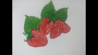 Strawberry Toy Coloring | Drawing Colors for Kids and pencil drawing