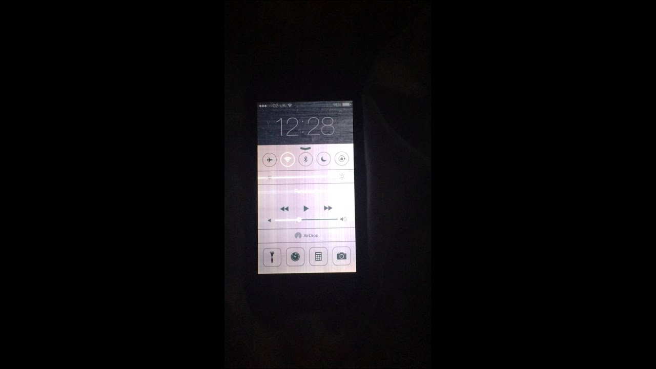 Iphone  White Lines On Screen