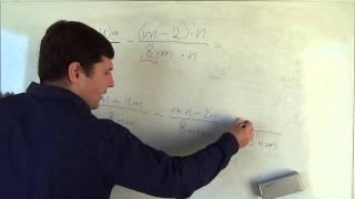 Алгебра 8 класс. 25 сентября. Сложение и вычитание алгебраических дробей с разными знаменателями #4