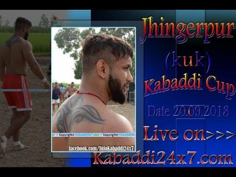 Jhingerpur [ KUK]  Kabaddi Cup  Live Now