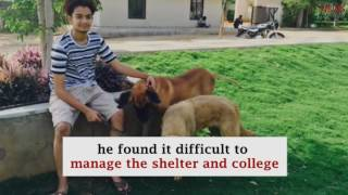 Meet the 19 year old who convinced his college to become a haven for abandoned animals.