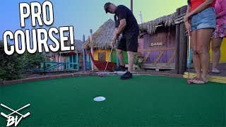 WE GOT A HOLE IN ONE AT A PRO MINI GOLF COURSE!