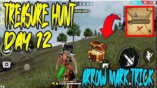 DAY 12 TREASURE HUNT IN FREE FIRE | ARROW MARK SOLVED | TREASURE CHEST | TELUGU GAMING ZONE