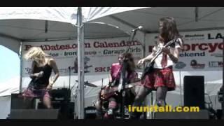 RAW FOOTAGE:  Whole Lotta Rosies @ 19th Annual 2010 L.A. Calendar Motorcycle Show