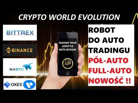 BOT DO TRADINGU Crypto World Evolution CWE BINANCE BITTREX HITBTC OKEX - NIE HYIP ! MLM?
