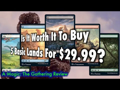 is-it-worth-it-to-buy-5-basic-lands-for-$29.99?- -mtg-secret-lair:-godzilla-lands-review