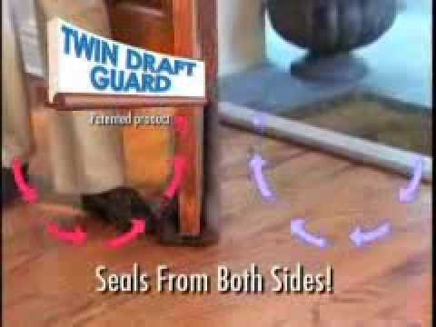 & Twin Draft Guard - Door Draft Stopper - As Seen On TV - YouTube