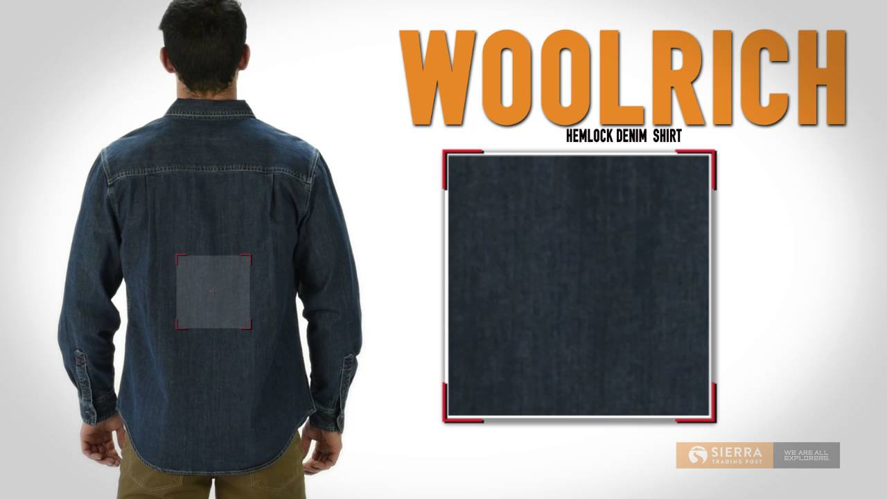 6b5f7ebec8 Woolrich Hemlock Denim Shirt - Long Sleeve (For Men) - YouTube