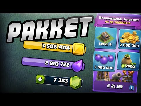 BUILDERHALL LVL 7 PAKKET KOPEN! - CLASH OF CLANS NEDERLANDS NL [#62]