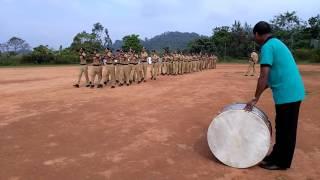 Student police cadet parade