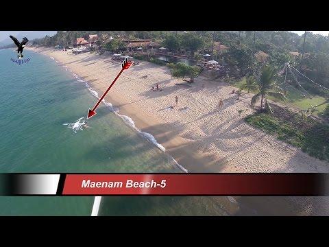 Maenam Beach-5 / 2015 / Koh Samui Thailand overflown with my drone