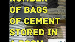 Calculate maximum Number Of cement bags to be stored in a warehouse | Civil Engineering With AK