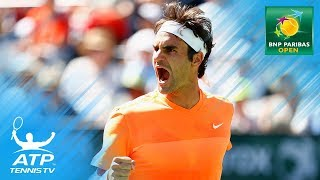 Roger Federer's Top 10 Best Indian Wells Shots