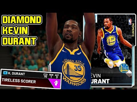2cb85b9320e8 DIAMOND KEVIN DURANT 70PT GAMEPLAY! THIS CARD DOENT MISS FROM THREE! NBA  2k19 MyTEAM