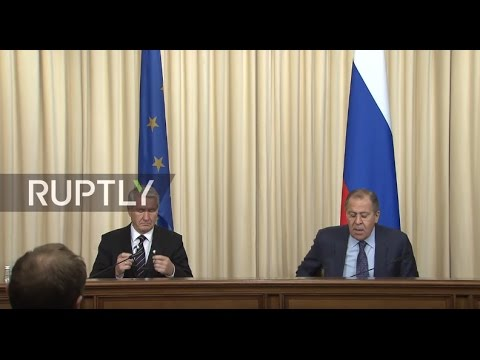LIVE: Sergei Lavrov holds joint press conference with Thorbjorn Jagland