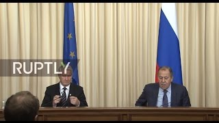 LIVE  Sergei Lavrov holds joint press conference with Thorbjorn Jagland