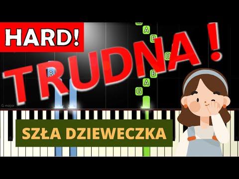 🎹 Szła dzieweczka - Piano Tutorial (TRUDNA! wersja) 🎹