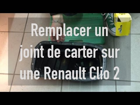 remplacer un joint de carter sur une renault clio 2 youtube. Black Bedroom Furniture Sets. Home Design Ideas
