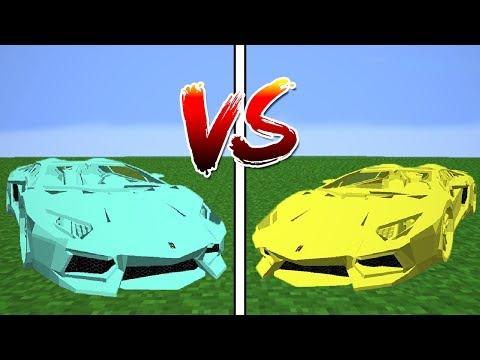CARRO DE DIAMANTE vs CARRO DE OURO !!! - MINECRAFT