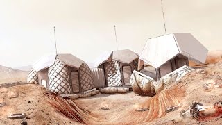 DesFoster + Partners unveils 3D-printed Mars settlement built by robots for NASA competition