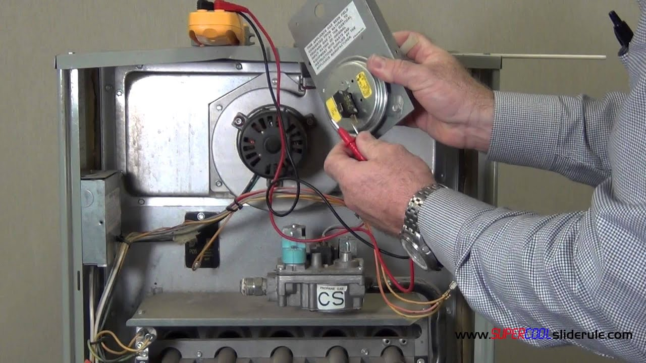 Forced Air Furnace Wiring Diagram How To Test An Air Proving Or Sail Switch Youtube