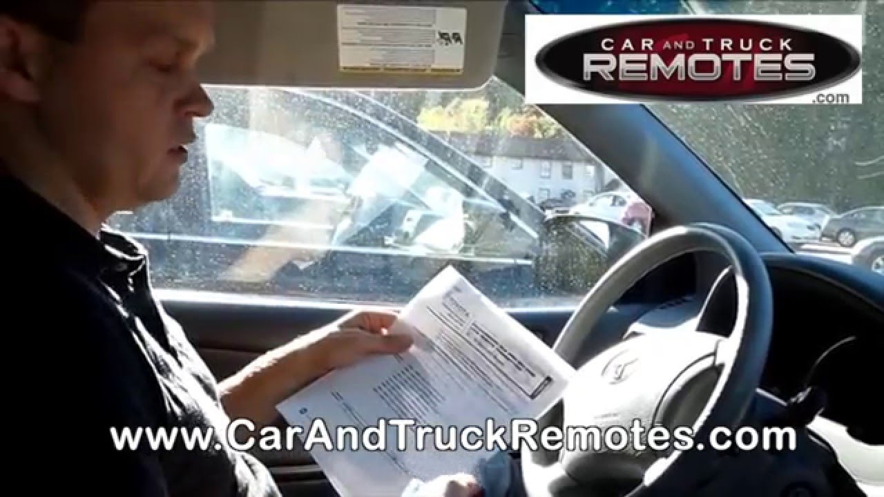 Toyota Tacoma Replacement Remote Programming 2002 2013 Youtube 2003 Fuse Diagram