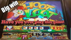 *Slot machine* Hoot Loot | Big win | big line hit |Classic slot machine