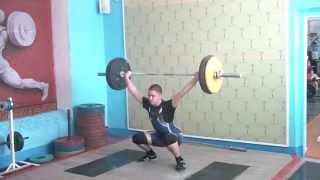 Рахматуллин Альберт, 15 лет, вк 77 Рывок 70 кг