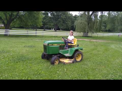 Driving the mower