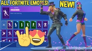 """Synth Star - Stage Slayer"" SKINS SHOWCASE AVEC TOUS FORTNITE DANCES - EMOTES..!!"