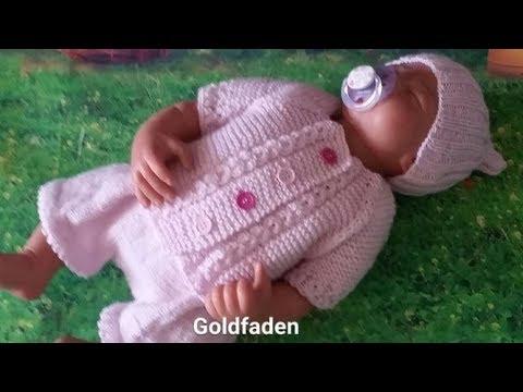 Goldfaden мастер класс кофточка для новорожденного 2 вязание Youtube