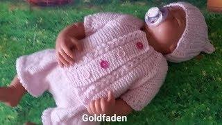 20 Goldfaden Мастер класс Кофточка для новорожденного 2 вязание спицами