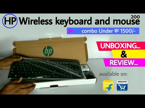 1023451d67c HP wireless keyboard and mouse 200 । Unboxing and review | in ...
