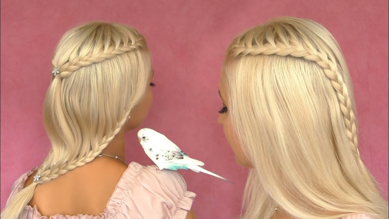 french lace braid tutorial cute
