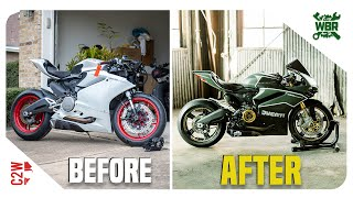 Wrecked Ducati Panigale 959 FULL BUILD TIMELAPSE | Under 10 Min!!