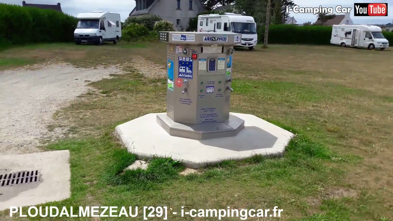 ploudalmezeau 29 aire camping car en bretagne youtube. Black Bedroom Furniture Sets. Home Design Ideas
