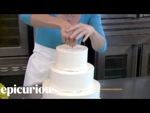 How To Make Your Own Wedding Cake Assembly Youtube