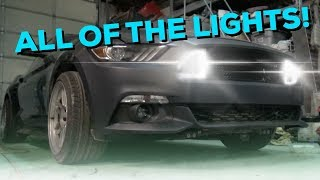 LED Grill installed into 2015 Mustang Drift Car! - Junkyard search for parts...😀 thumbnail