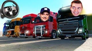 Primeiro Comboio De CaminhÃo Do Ano!!! - Euro Truck Simulator 2 + G27