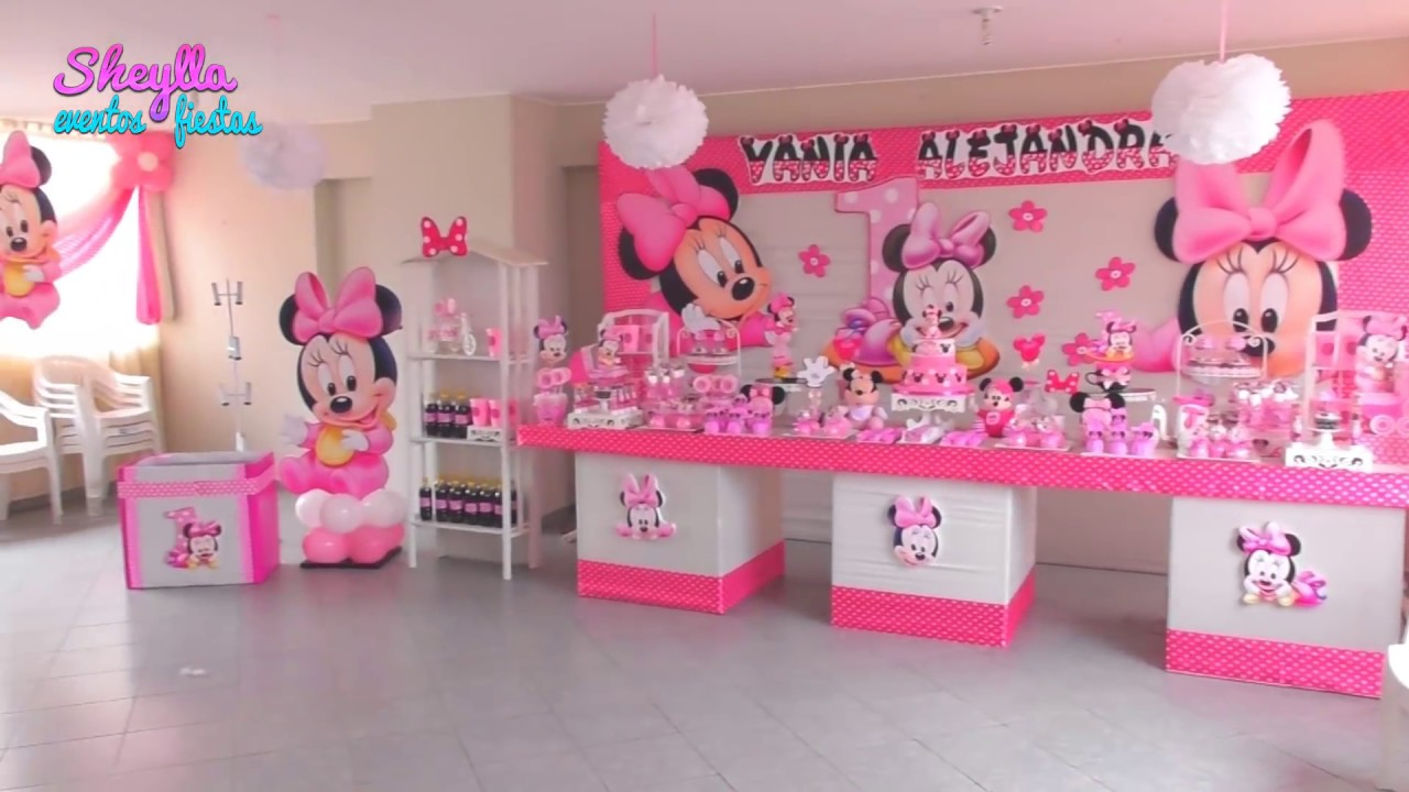 Decoración De Minnie Mouse Bebe Fiesta Infantil Temática Niñas Youtube