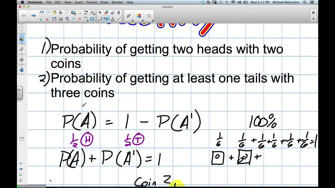 Probability Grade 12 Data Management Lesson 6 1 11 21 12 Youtube