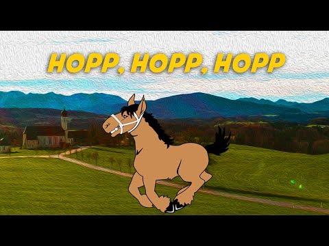 Hopp, Hopp, Hopp (Pferdchen lauf Galopp) Karaoke - German lyrics   Deutsche Kinderlieder