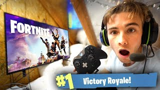 FORTNITE GAMING FORT IN OUR HIDDEN ATTIC! *VICTORY ROYALE*