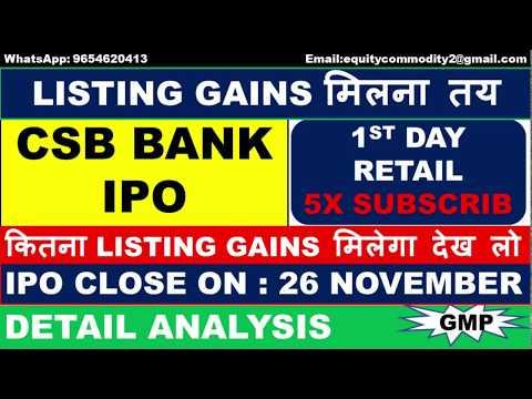 CSB BANK IPO REVIEW | LISTING GAINS कितना मिलेगा? | Detail Analysis | Apply or Avoid | CSB BANK IPO